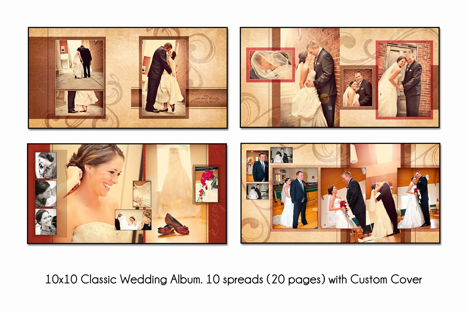 Free Photo Album Template Unique Psd Wedding Album Template Autumn Swirl 12x12 10spread 20