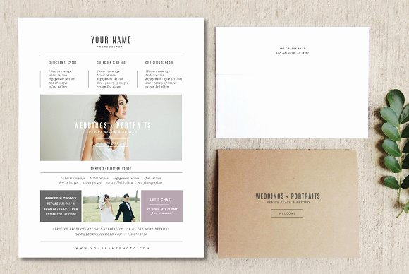 Free Photography Pricing Template Awesome Pricing Guide Template Flyer Templates Creative Market