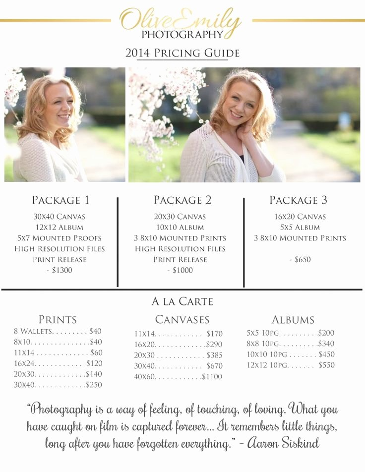 Free Photography Pricing Template Beautiful Best 25 Graphy Pricing Ideas On Pinterest