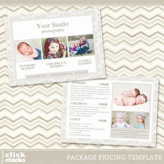 Free Photography Pricing Template Elegant Graphy Package Pricing List Template Portrait