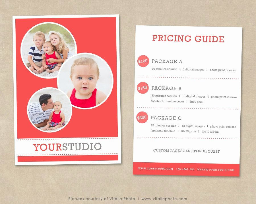 Free Photography Pricing Template Inspirational Graphy Pricing Template Pricing List Pricing Guide