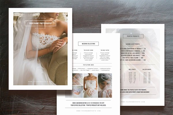 Free Photography Pricing Template Inspirational Price List Template – 10 Free Word Excel Pdf format