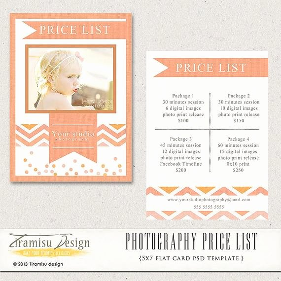 Free Photography Pricing Template Lovely Graphy Price List Graphy Pricing Guide Price