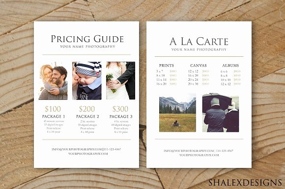 Free Photography Pricing Template Lovely Graphy Pricing Guide Template Stationery Templates