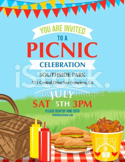 Free Picnic Flyer Template Beautiful Cartoon Summer Picnic Invitation Template Royalty Free
