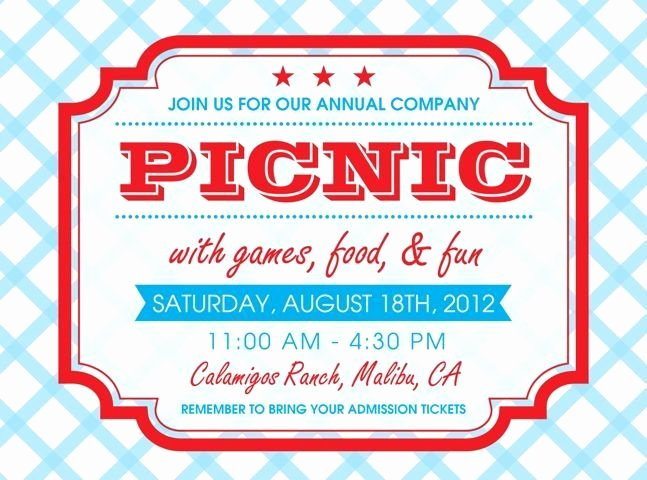 Free Picnic Flyer Template Beautiful Free Printable Picnic Invitation Template Google Search