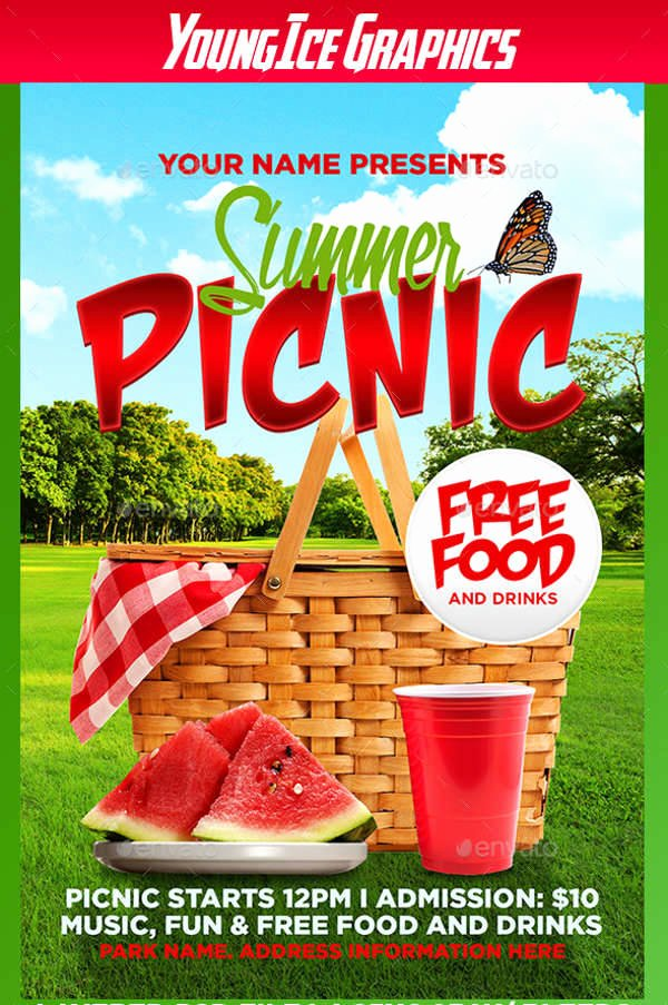 Free Picnic Flyer Template Best Of 55 Summer Flyer Designs