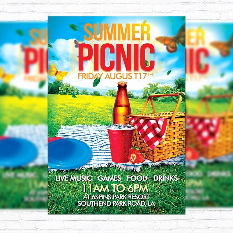 Free Picnic Flyer Template Fresh Пин от пользователя Exclusive Flyer на доске Premium and