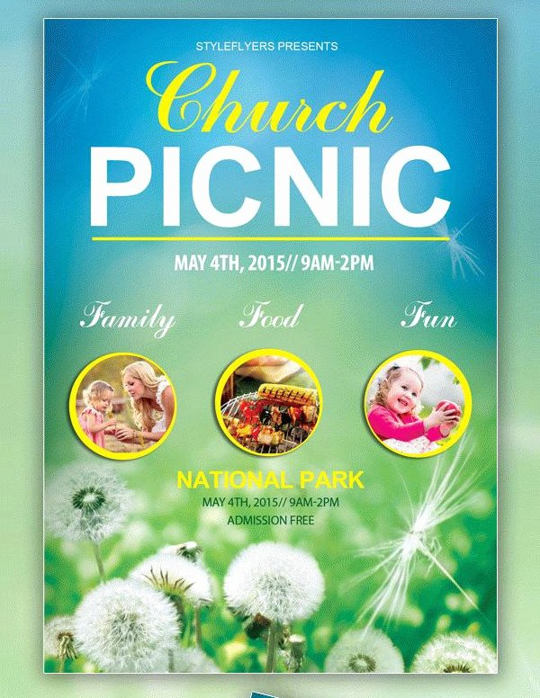 Free Picnic Flyer Template Inspirational 41 Church Flyer Templates Free & Premium Download