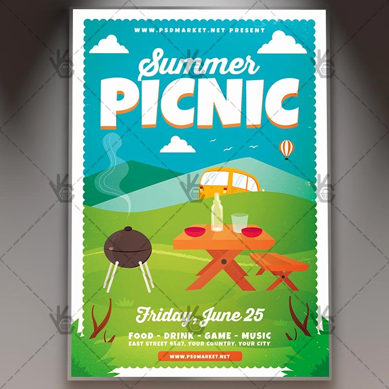 Free Picnic Flyer Template Lovely Download Summer Picnic Flyer Psd Template