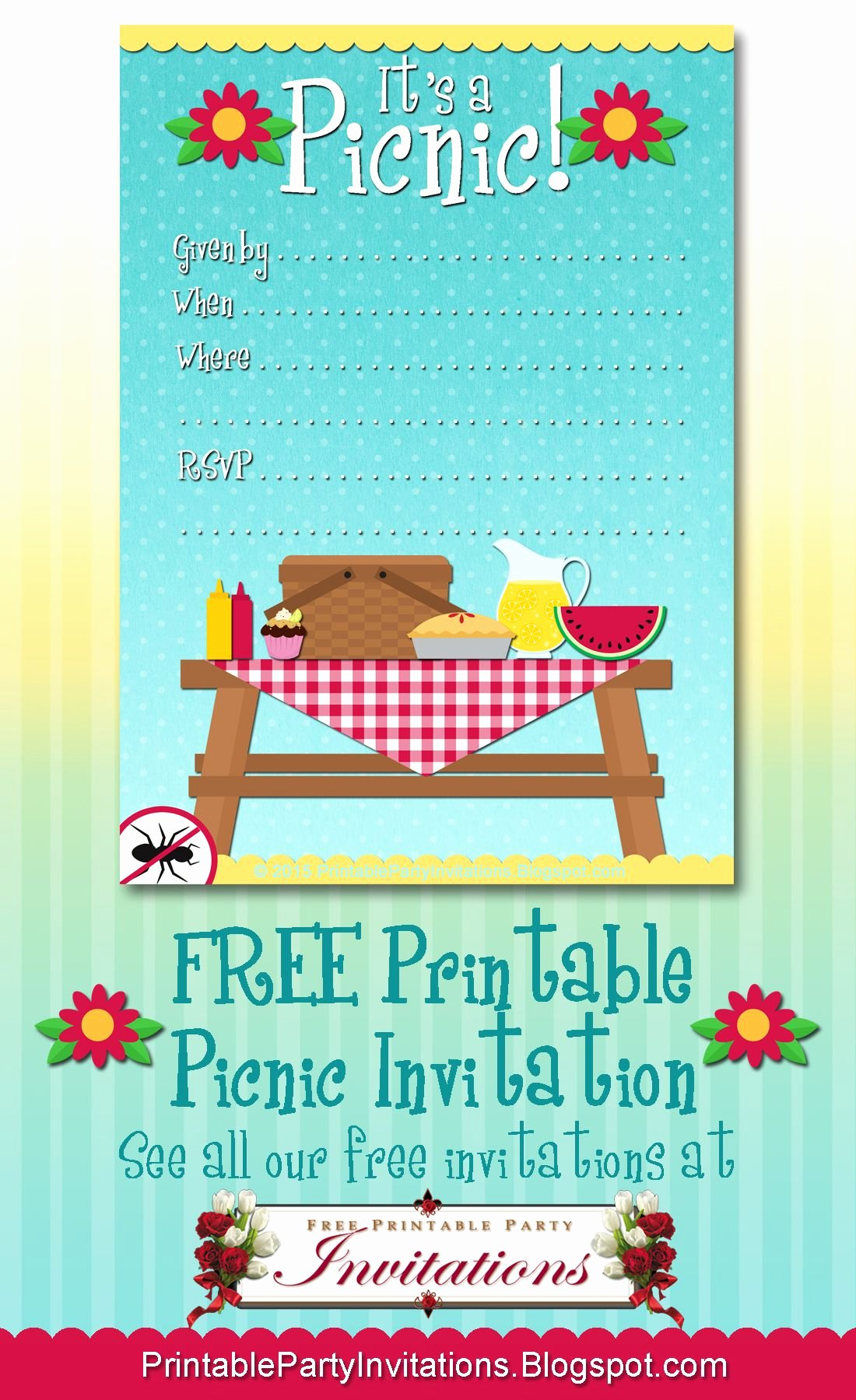 Free Picnic Flyer Template Luxury Free Printable Picnic Invitation