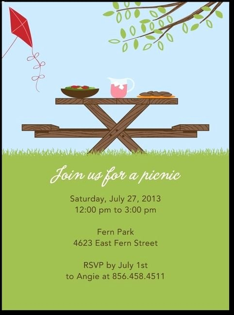 Free Picnic Invitation Template Awesome 24 Best Potluck Invitations Images On Pinterest