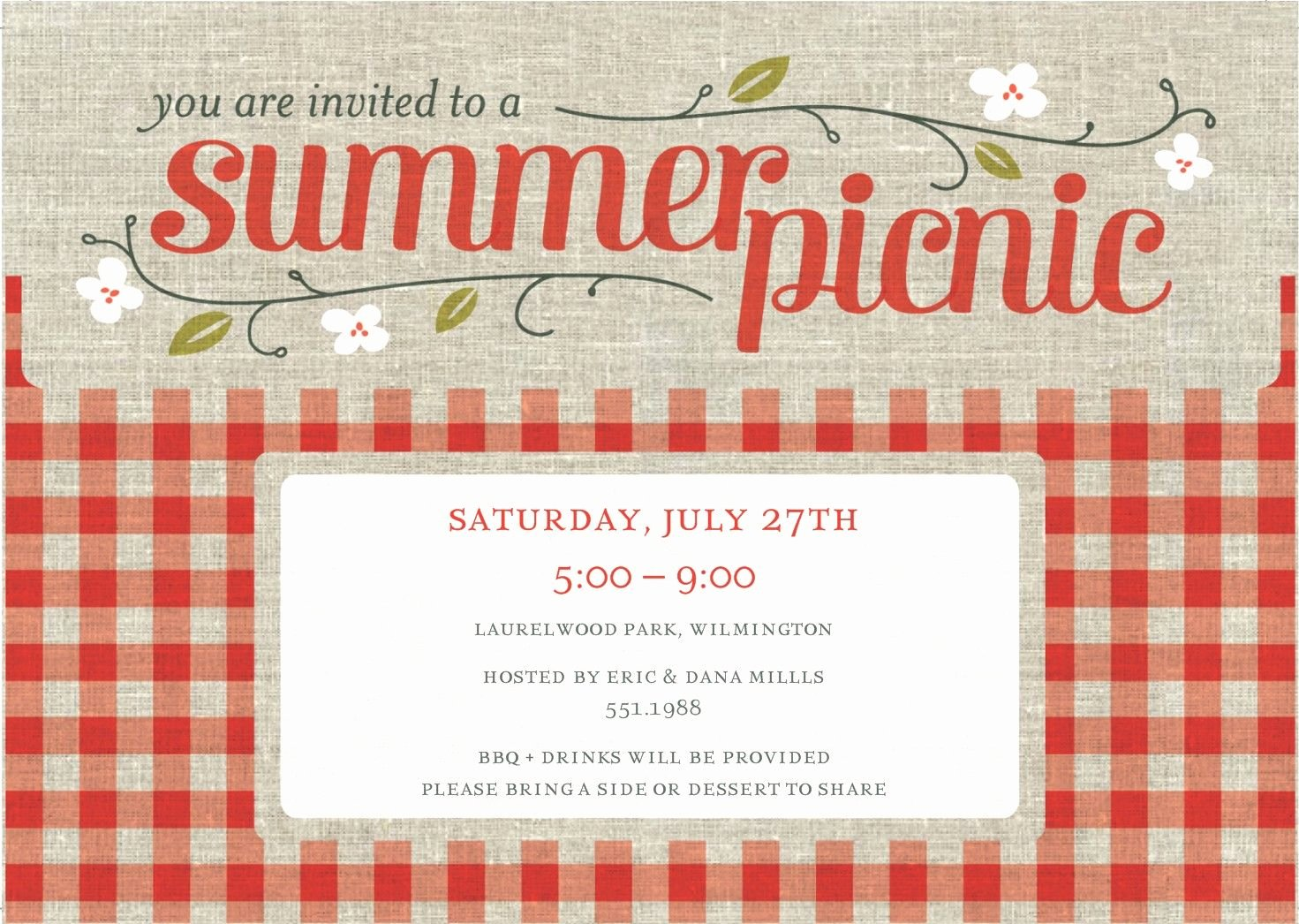 Free Picnic Invitation Template Awesome Free Pany Picnic Party Invitation Template