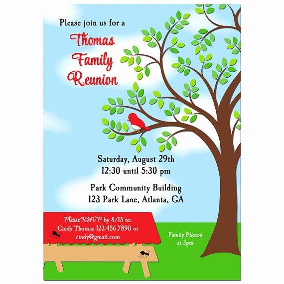 Free Picnic Invitation Template Elegant Family Reunion Picnic Bbq Park Invitation Printable or