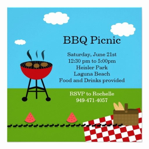 Free Picnic Invitation Template Inspirational Bbq Party Invitation Templates Free