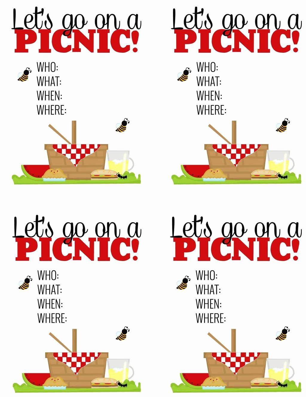 Free Picnic Invitation Template Inspirational Surprise Breakfast Picnic Free Printable Picnic