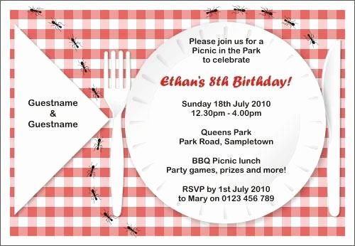 Free Picnic Invitation Template Luxury Free Printable Picnic Invitations Templates