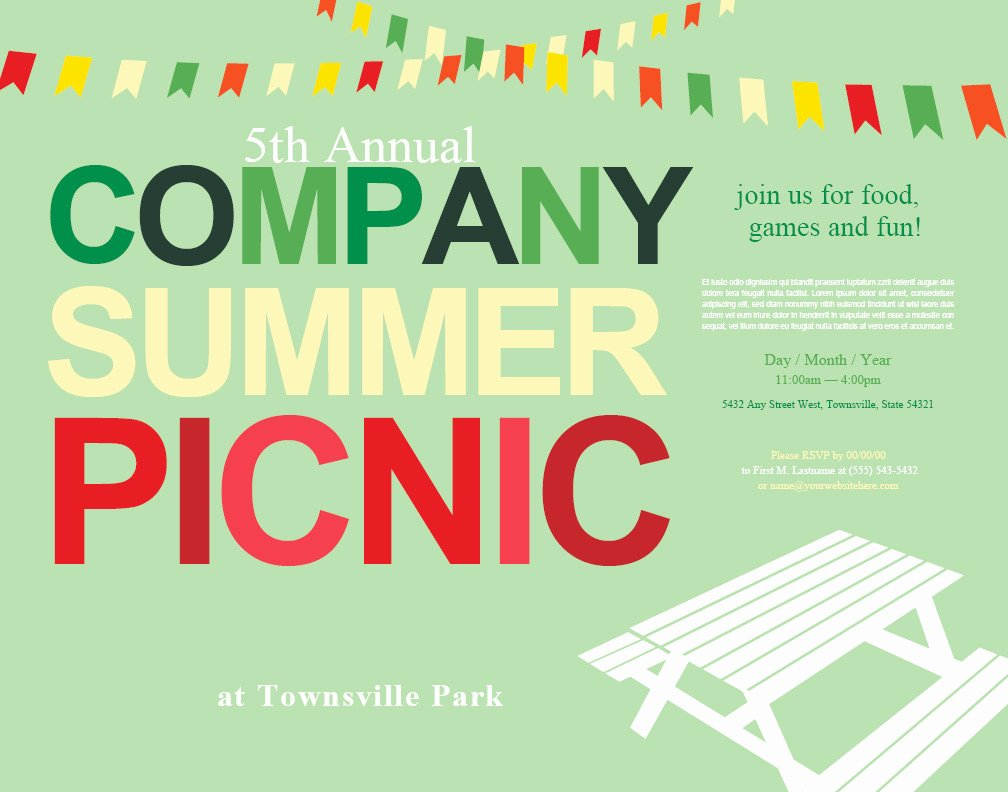Free Picnic Invitation Template New Picnic Invitation Templates