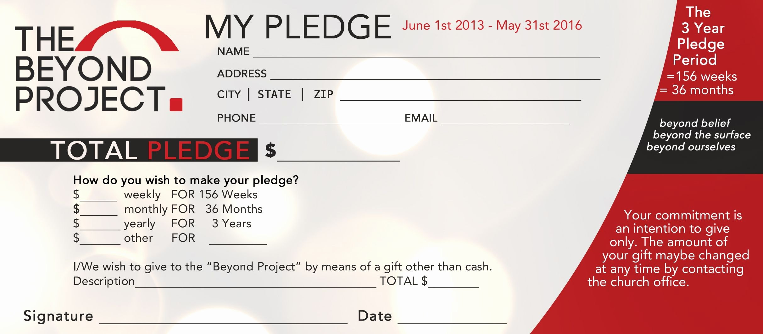 Free Pledge Card Template Beautiful Church Pledge form Template Hausn3uc