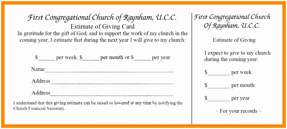 Free Pledge Card Template Luxury 5 Church Pledge Card Template Roeca