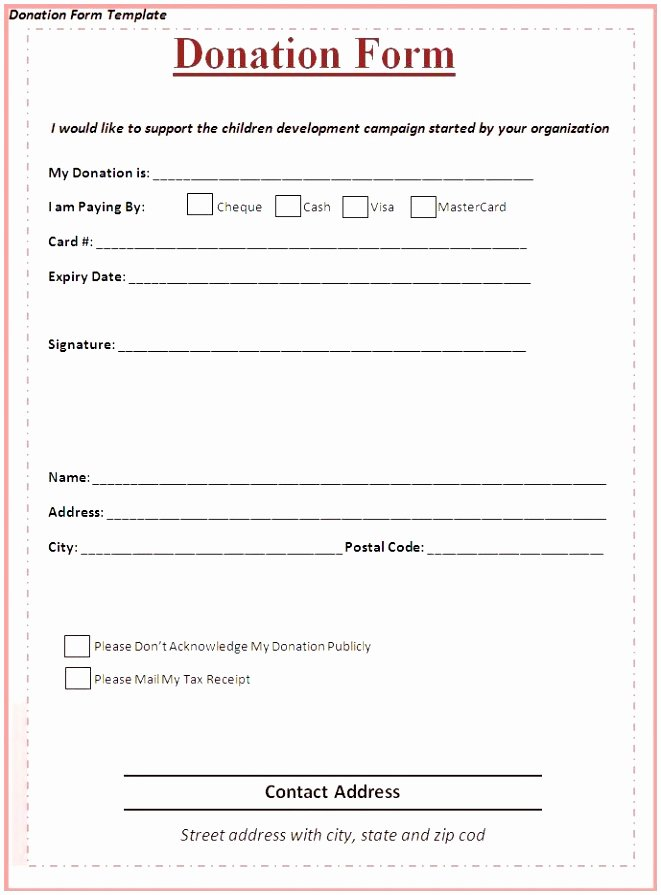 Free Pledge Card Template New 9 Charity Pledge form Template Dtauw