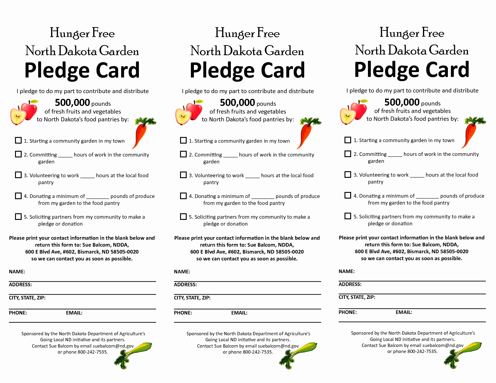 Free Pledge Card Template New Free Pledge Card Template