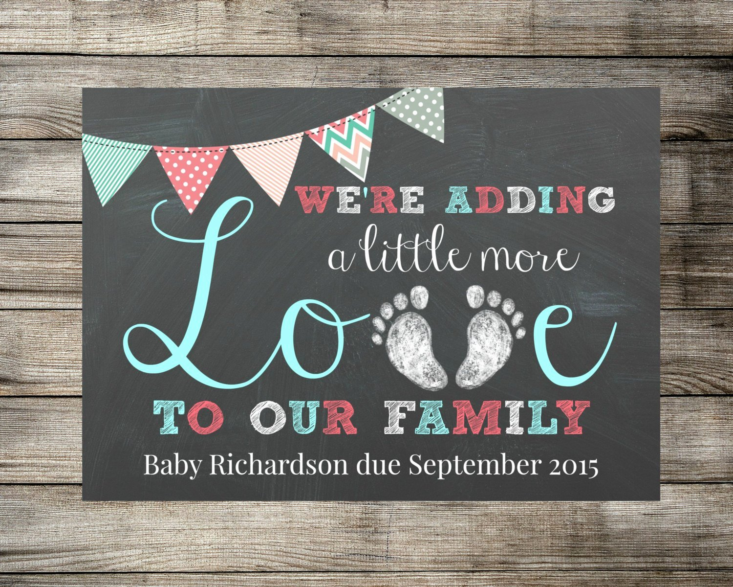 Free Pregnancy Announcement Template Beautiful Baby Pregnancy Announcement We Re Adding A Little More