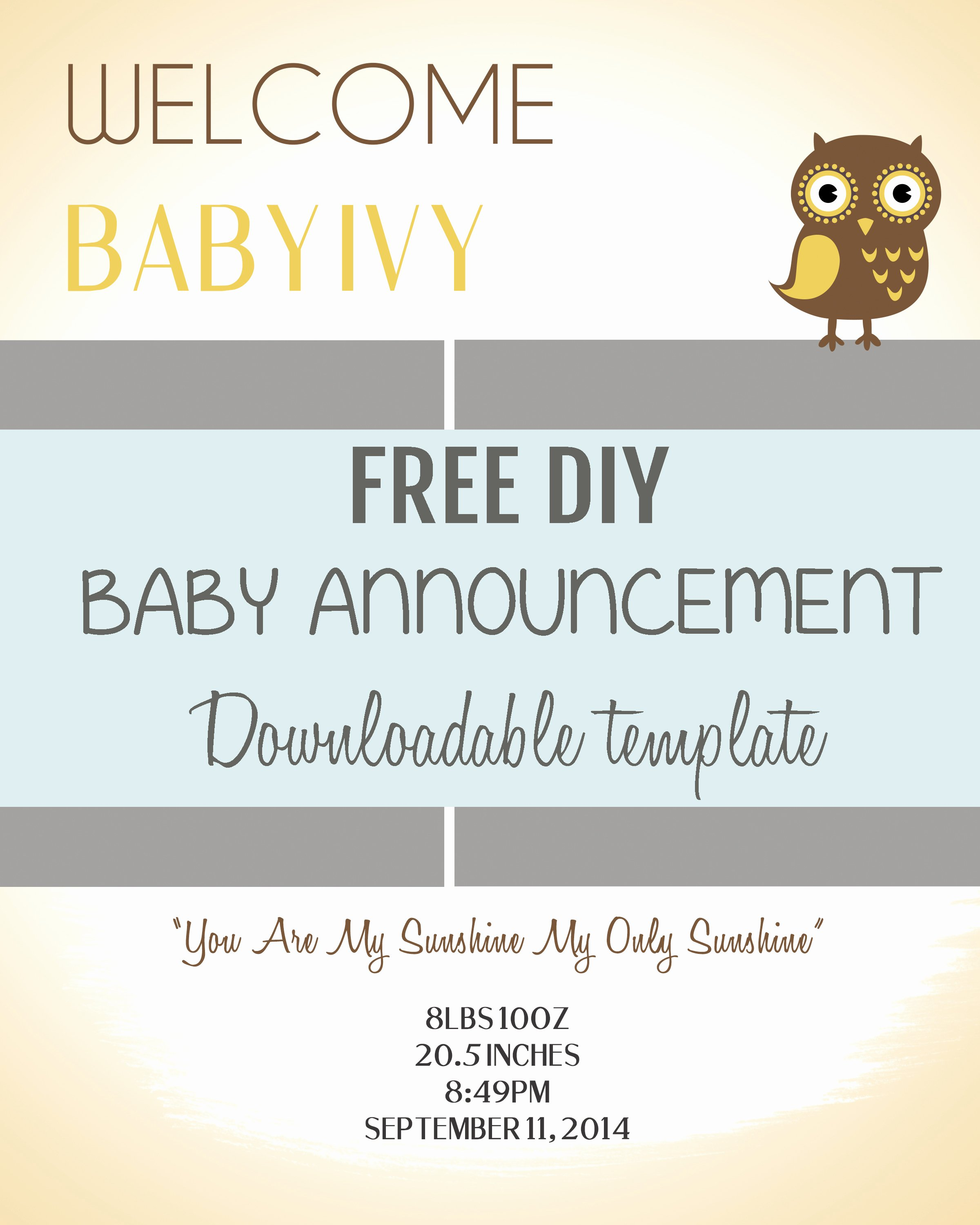 Free Pregnancy Announcement Template Elegant Diy Baby Announcement Template Free Psd Download