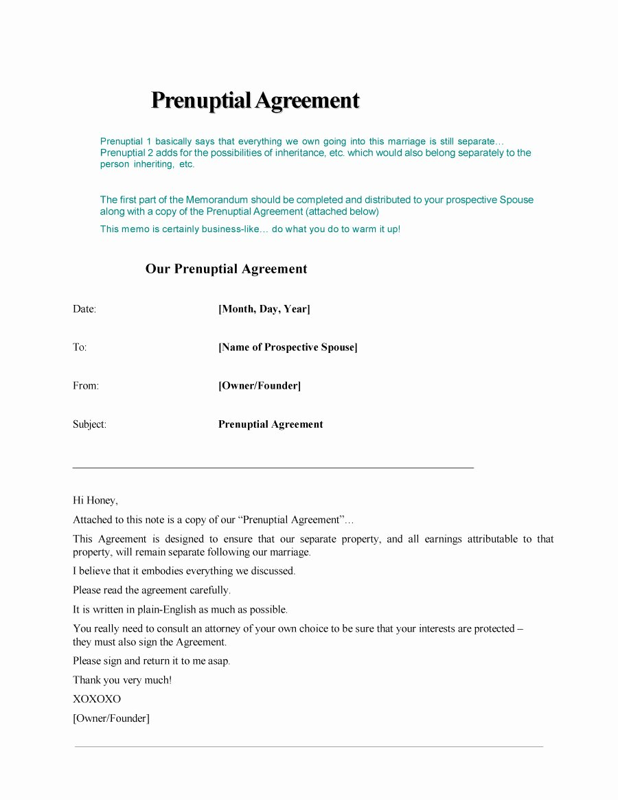 Free Prenup Agreement Template Beautiful 30 Prenuptial Agreement Samples & forms Template Lab