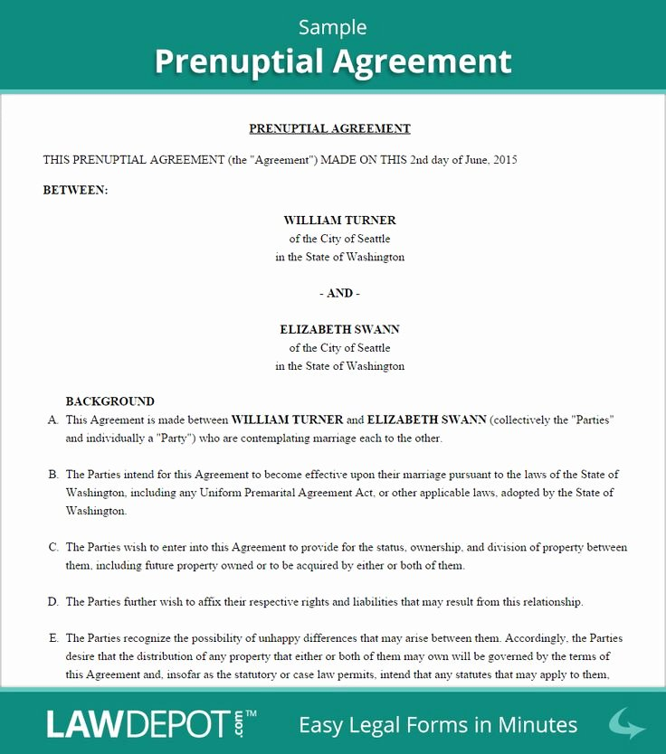 Free Prenup Agreement Template New 9 Best Prenuptial Agreement Images On Pinterest