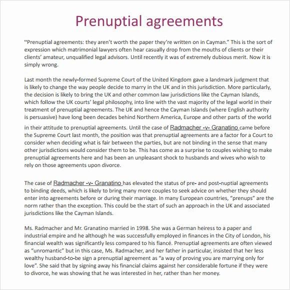 Free Prenup Agreement Template Unique Download Free Prenuptial Agreements Templates Free
