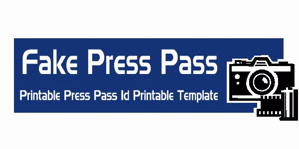 Free Press Pass Template Lovely Press Pass Template