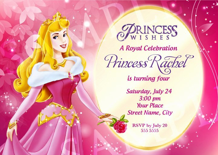 Free Princess Invitation Template Beautiful Aurora Princess Birthday Invitation Template
