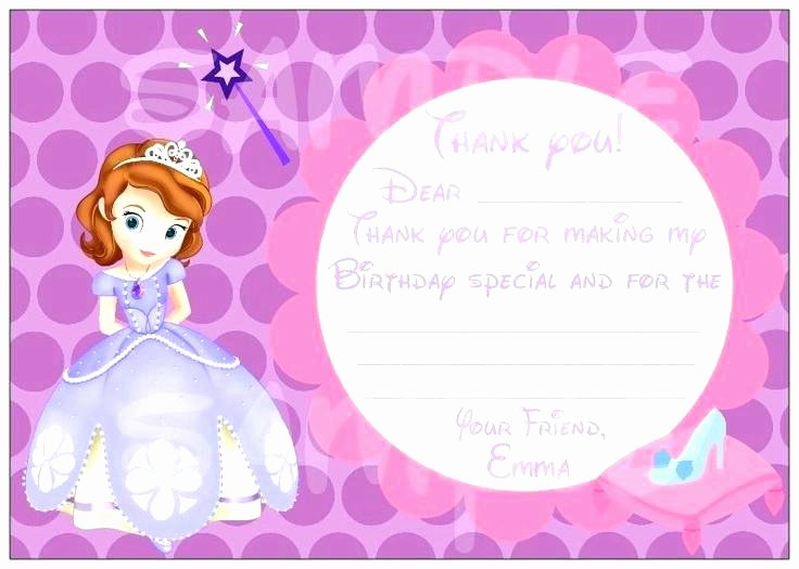 Free Princess Invitation Template Beautiful Princess sofia Party Invitation Templates Fresh Invites