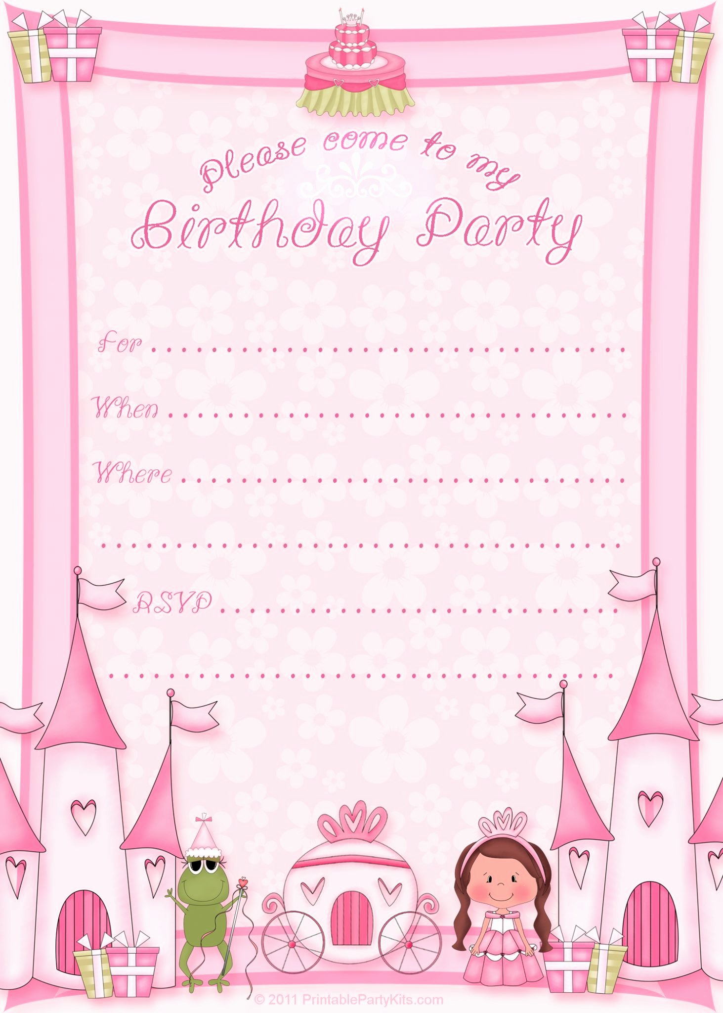 Free Princess Invitation Template Elegant 100 Free Birthday Invitation Templates You Will Love