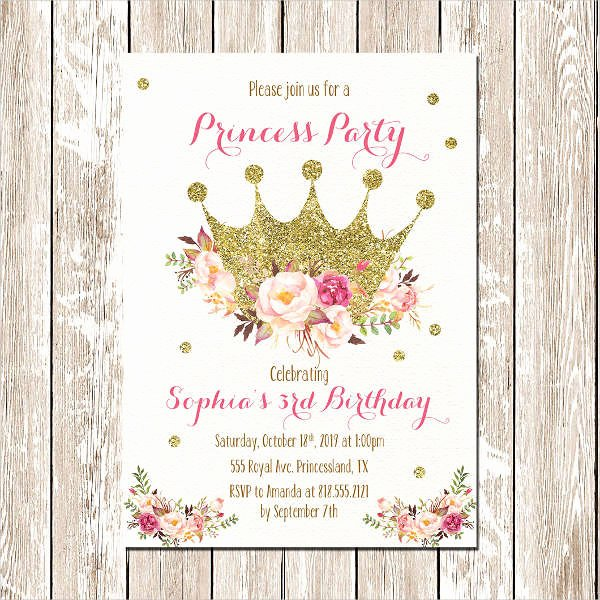 Free Princess Invitation Template Elegant 18 Beautiful Princess Invitations Psd Ai
