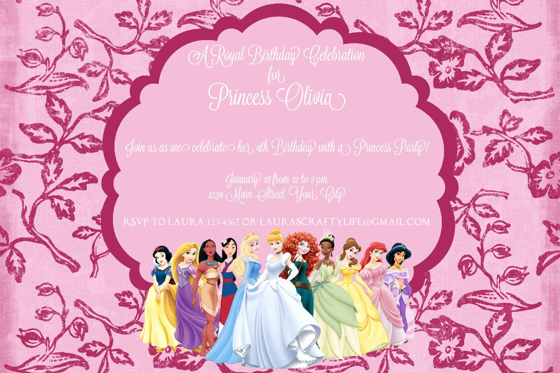 Free Princess Invitation Template Elegant Princess Dress Invitation Templates
