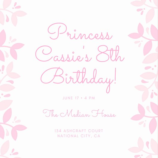 Free Princess Invitation Template Fresh Customize 174 Princess Invitation Templates Online Canva