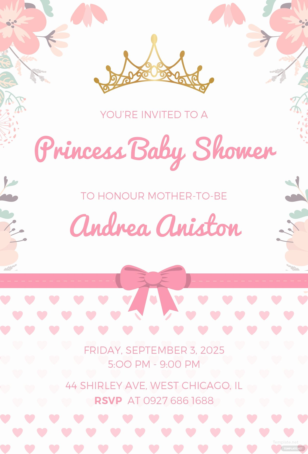 Free Princess Invitation Template Lovely Free Princess Baby Shower Invitation Template In Microsoft