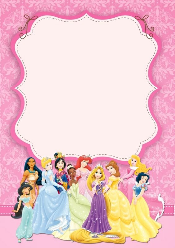 Free Princess Invitation Template Luxury Disney Princesses Birthday Invitation Template Free
