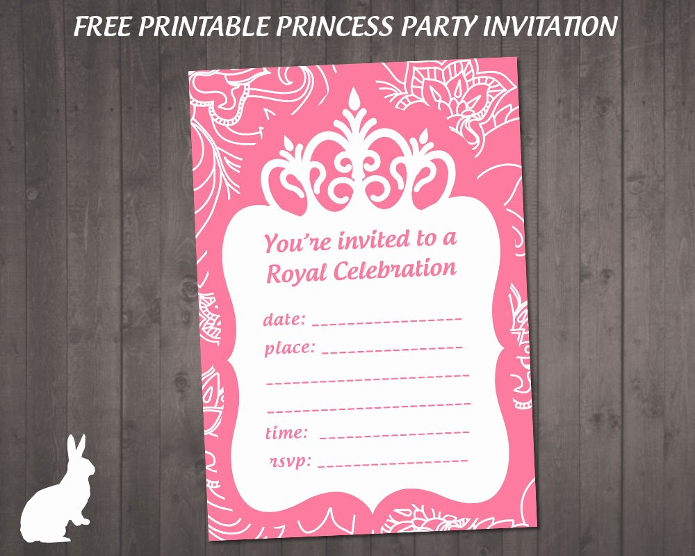 Free Princess Invitation Template Luxury Free Party Invitations