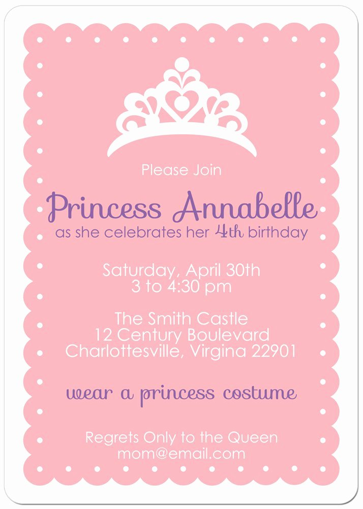Free Princess Invitation Template New Free Printable Birthday Invitations Princess and the Frog