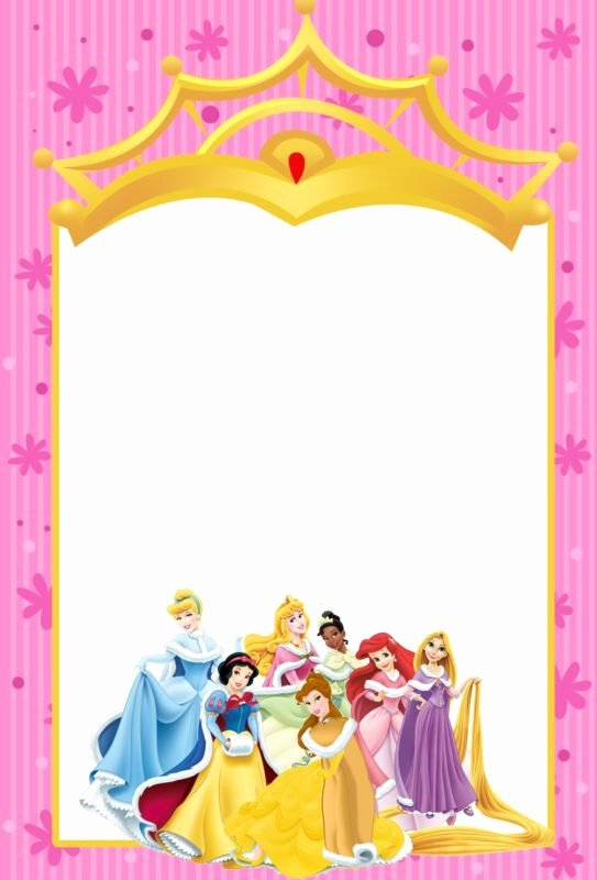 Free Princess Invitation Template Unique Printable Disney Princesses Invitations Free Printable