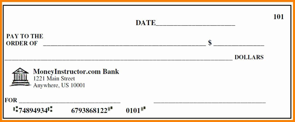 Free Printable Checks Template Awesome 10 Editable Blank Check Template