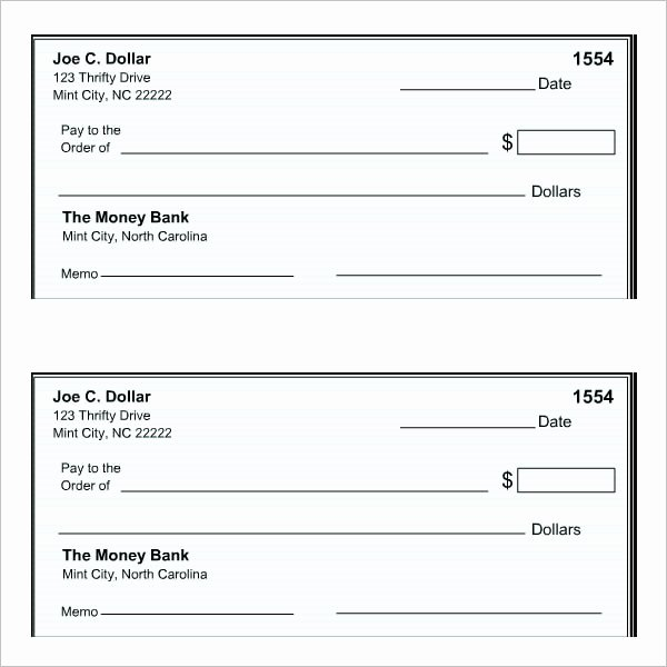 Free Printable Checks Template Awesome 43 Cheque Templates Free Word Excel Psd Pdf formats