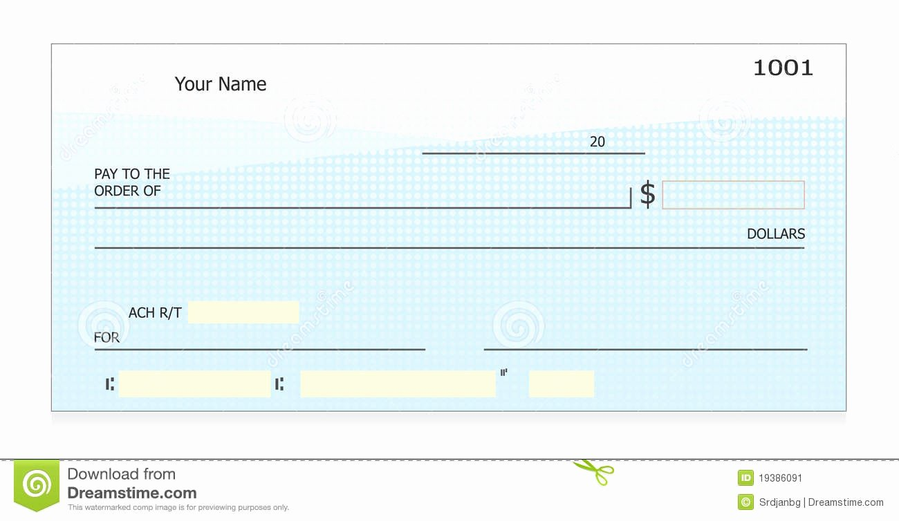 Free Printable Checks Template Beautiful Blank Check Stock Vector Image Of Finance Payment