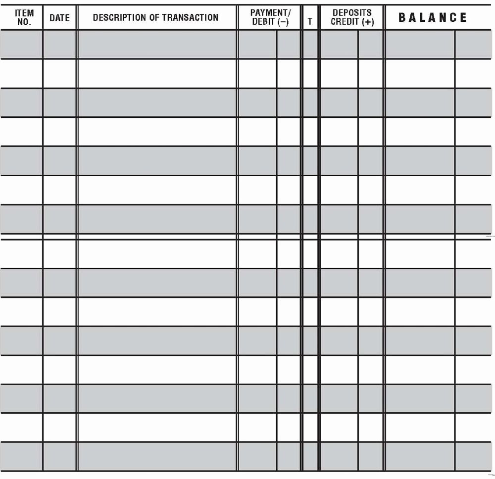 Free Printable Checks Template Fresh 12 Easy to Read Checkbook Transaction Register Large Print