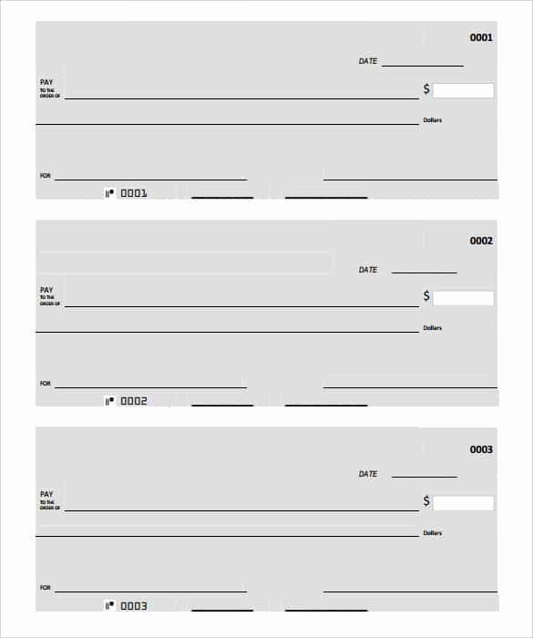 Free Printable Checks Template New 24 Blank Check Template Doc Psd Pdf & Vector formats