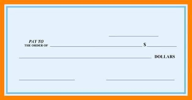 Free Printable Checks Template Unique Free Printable Big Check Template