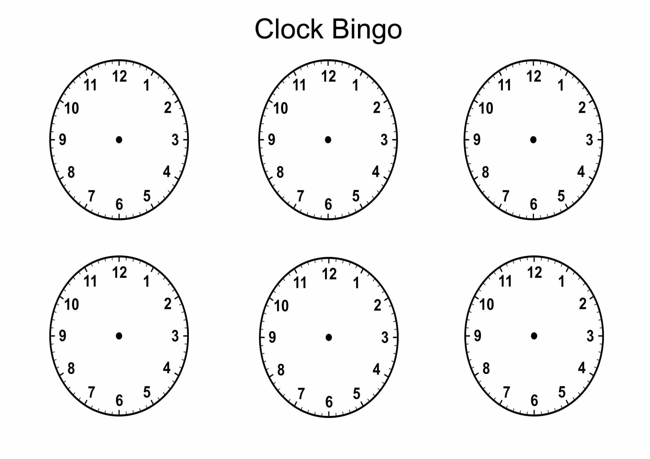 Free Printable Clock Template Awesome Blank Clock Faces Templates